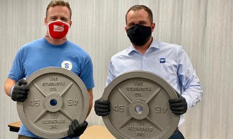 This Marine is manufacturing weights in the U.S.A.
