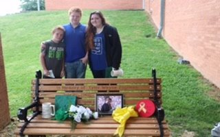 Cast Iron Bench Memorializes Classmate