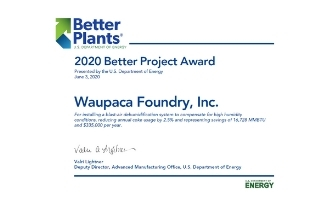 Waupaca Foundry Wins 2020 Better Project Award