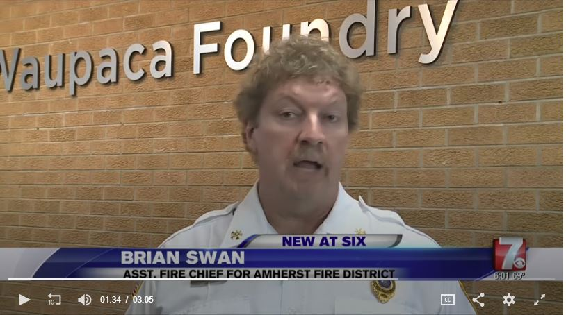 Click here to watch the WSAW Channel 7 news segment recognizing Waupaca Foundry and area businesses for support of employees who volunteer as first responders.